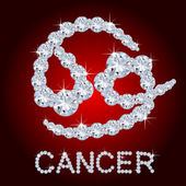 Diamond Zodiac Cancer — Stock Photo