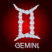 Diamond Zodiac Gemini — Stock Photo
