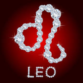 Diamond Zodiac Leo — Stock Photo