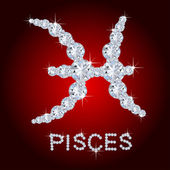 Diamond Zodiac Pisces — Stock Photo