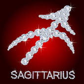 Diamond Zodiac Sagittarius — Stock Photo