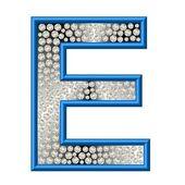 алмазный буква e — Стоковое фото