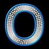 Diamond Character O — Stock Photo