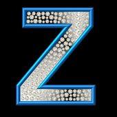 Diamond Character Z — Stock Photo