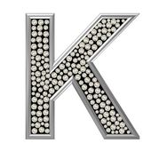 Diamond Character K — Stock Photo