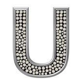 Diamond Character U — Stock Photo