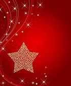 Christmasframe with stars — Stock Photo
