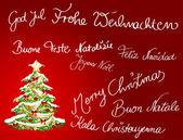 Multilingual Christmascard — Stock Photo