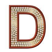 Diamond Character D — Foto de Stock