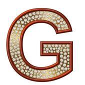 Diamond Character G — Stock Photo