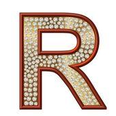 Diamond Character R — Stock Photo
