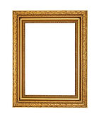 Old golden frame with clipping path — Stock Photo