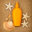 Stock Photo: Summer beach - suntoil