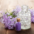 Spa still life - essential oil and bath salt — Stock Photo #6506071
