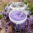 Aromatherapy - lavender bath salt — Stock Photo #6506264