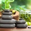 Royalty-Free Stock Photo: Hot massage - spa stones