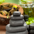 Royalty-Free Stock Photo: Spa treatment - black stones