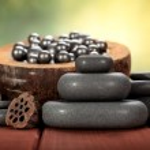 Massage hot stones — Stock Photo