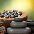 Massage hot stones — Stock Photo
