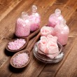Aromatherapy salt - spa supplies - Stockfoto