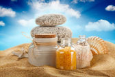 Spa still life - beach — Stock Photo