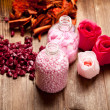Pink bath salt — Stock Photo #6518877