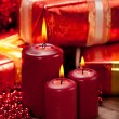 Royalty-Free Stock Photo: Candles and gift