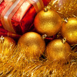 Royalty-Free Stock Photo: Christmas balls and gift