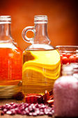 Spa supplies - oils and salt — Stock Photo