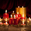 Candles - christmas decoration — Stock Photo