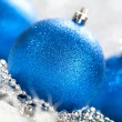 Christmas - blue balls — Stock Photo