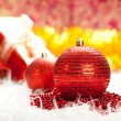 Foto de Stock  : Christmas baubles