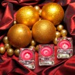 Baubles and candles — Foto de Stock