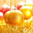 Xmas golden ball — Stock Photo