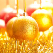 Stock Photo: Xmas golden ball