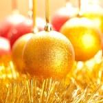 Xmas golden ball — Stock Photo