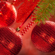 Christmas decoration - baubles — Stock Photo