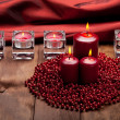 Xmas candles — Stock Photo