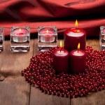 Xmas candles — Stock Photo