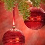 Red balls- christmas decoration — Stock Photo #6523121
