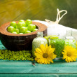 Spa supplies - minerals for aromatherapy — Stock Photo
