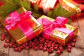 Xmas gifts — Stock Photo