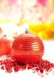 Vánoční dekorace - červená cetka — Stock fotografie