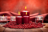 Red christmas candles — Stockfoto
