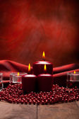 Christmas background - candles — Stock Photo