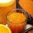Royalty-Free Stock Photo: Orange bath salt