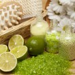 Stock Photo: Spa - massage and aromatherapy