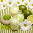 Lime bath salt — Stock Photo #6556254
