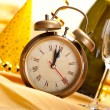 Midnight - clock face and decorations - Foto Stock