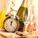 felice anno nuovo - decorazione festa — Foto Stock